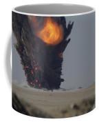 A Munitions Disposal Explosion Coffee Mug