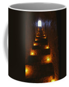 A Narrow Staircase Lit With Candles Coffee Mug