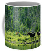 A Natural Salt Lick Lures Moose Coffee Mug