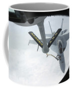 A Navy Fa-18f Super Hornet Is Refueled Coffee Mug by Stocktrek Images