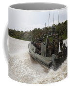 A Navy Riverine Patrol Boat Conducts Coffee Mug