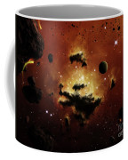 A Nebula Evaporates In The Far Distance Coffee Mug by Brian Christensen