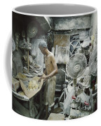 A Noodle Maker Works Covered In Flour Coffee Mug by Jodi Cobb