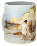 A Painter By The Sea Side Coffee Mug