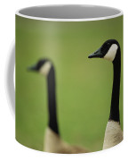 A Pair Of Canada Geese In Profile Coffee Mug
