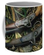 A Pair Of Old Flint-type Rifles Lying Coffee Mug