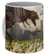A Pair Of Tyrannosaurus Rex Explore Coffee Mug