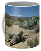 A Paratrooper Recovers After Landing Coffee Mug