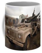 A Pink Panther Land Rover Coffee Mug