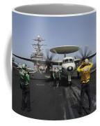 A Plane Director Guides An E-2c Hawkeye Coffee Mug