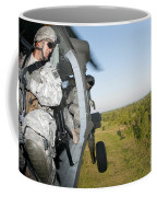 A Platoon Sergeant Prepares To Land Coffee Mug