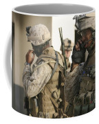 A Radio Operator Helps A Platoon Coffee Mug by Stocktrek Images