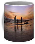 A Rear View Of A Family With One Child Coffee Mug by James Forte