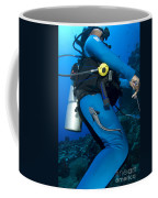 A Remora Attached To A Diver, Kimbe Coffee Mug