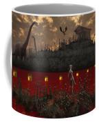 A Reptoid Looks Across The River Coffee Mug