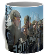 A Riot Control Team Braces Coffee Mug by Stocktrek Images