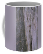 A Rock Climber Clings To An Overhang Coffee Mug