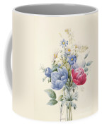A Rose Anemone Mignonette And Daisies Coffee Mug