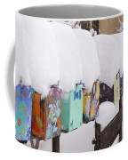 A Row Of Mailboxes In Winter Coffee Mug by Ralph Lee Hopkins