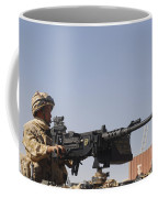 A Royal Marine Manning A .50 Caliber Coffee Mug