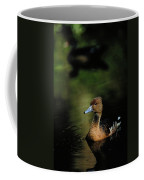 A Ruddy Duck Swims Through The Marsh Coffee Mug