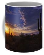 A Saguaro Sunset  Coffee Mug