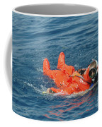 A Sailor Rescued By A Diver Coffee Mug by Stocktrek Images