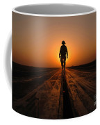 A Sailor Walks The Catapults Coffee Mug by Stocktrek Images