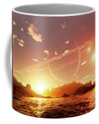 A Scene On A Distant Moon Orbiting Coffee Mug