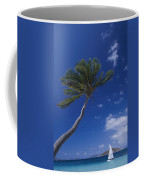 A Scenic View Of A Palm Tree Coffee Mug