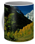 A Scenic View Of Yellow And Green Trees Coffee Mug