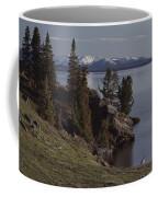 A Scenic View Of Yellowstone Lake Coffee Mug