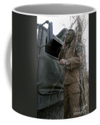A Scout Observer Applies Camouflage Coffee Mug