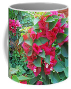 A Section Of Pink Bougainvillea Flowers Coffee Mug