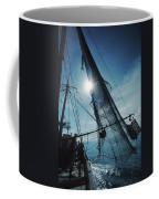 A Shrimping Boat Off The Coast Coffee Mug
