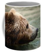 A Side-view Of A Captive Kodiak Bear Coffee Mug by Tim Laman