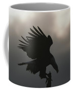 A Silhouetted Northern American Bald Coffee Mug
