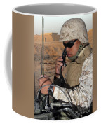 A Single-channel Radio Operator Works Coffee Mug by Stocktrek Images