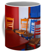 Colorful Table And Chairs Greece Coffee Mug