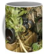 A Sniper Dressed In A Ghillie Suit Coffee Mug