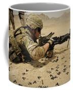 A Soldier Clears The Mk-48 Machine Gun Coffee Mug