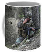 A Soldier Communicates His Position Coffee Mug