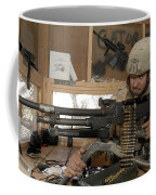 A Soldier Conducts An Observation Coffee Mug
