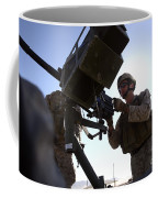 A Soldier Fires 40mm Rounds Coffee Mug by Stocktrek Images