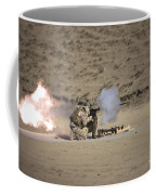 A Soldier Fires A Rocket-propelled Coffee Mug