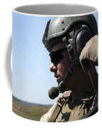 A Soldier Keeps In Radio Contact Coffee Mug by Stocktrek Images