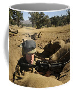 A Soldier Mans His Position At Fort Coffee Mug