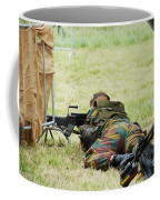 A Soldier Of The Belgian Army On Guard Coffee Mug by Luc De Jaeger