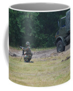 A Soldier Of The Belgian Artillery Unit Coffee Mug by Luc De Jaeger