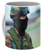 A Soldier Of The Special Forces Group Coffee Mug by Luc De Jaeger